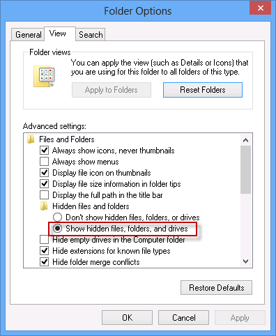 How to Hide and View Hidden Files, Folders, System Files in Windows 8.1