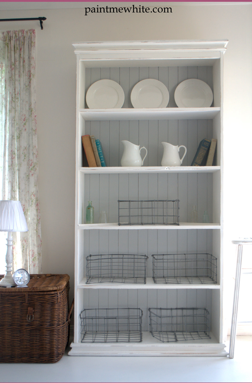 French Provincial Chair >> French Provincial Bookcase – Paint Me White