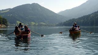 En route pour l'atelier yodel avec Steiner & Paulus à Lunz am See / photo S. Mazars
