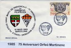 Sobre oficial Expofil'85