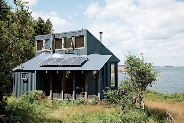 Solar-Strom, Ofenheizung, Regenwassernutzung und Kompost-Toilette - Camping deluxe
