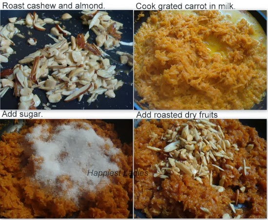 carrot halwa Indian recipe
