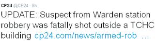 armed robber shot dead in scarberia