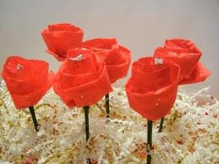 Manualidades flores de chocolate