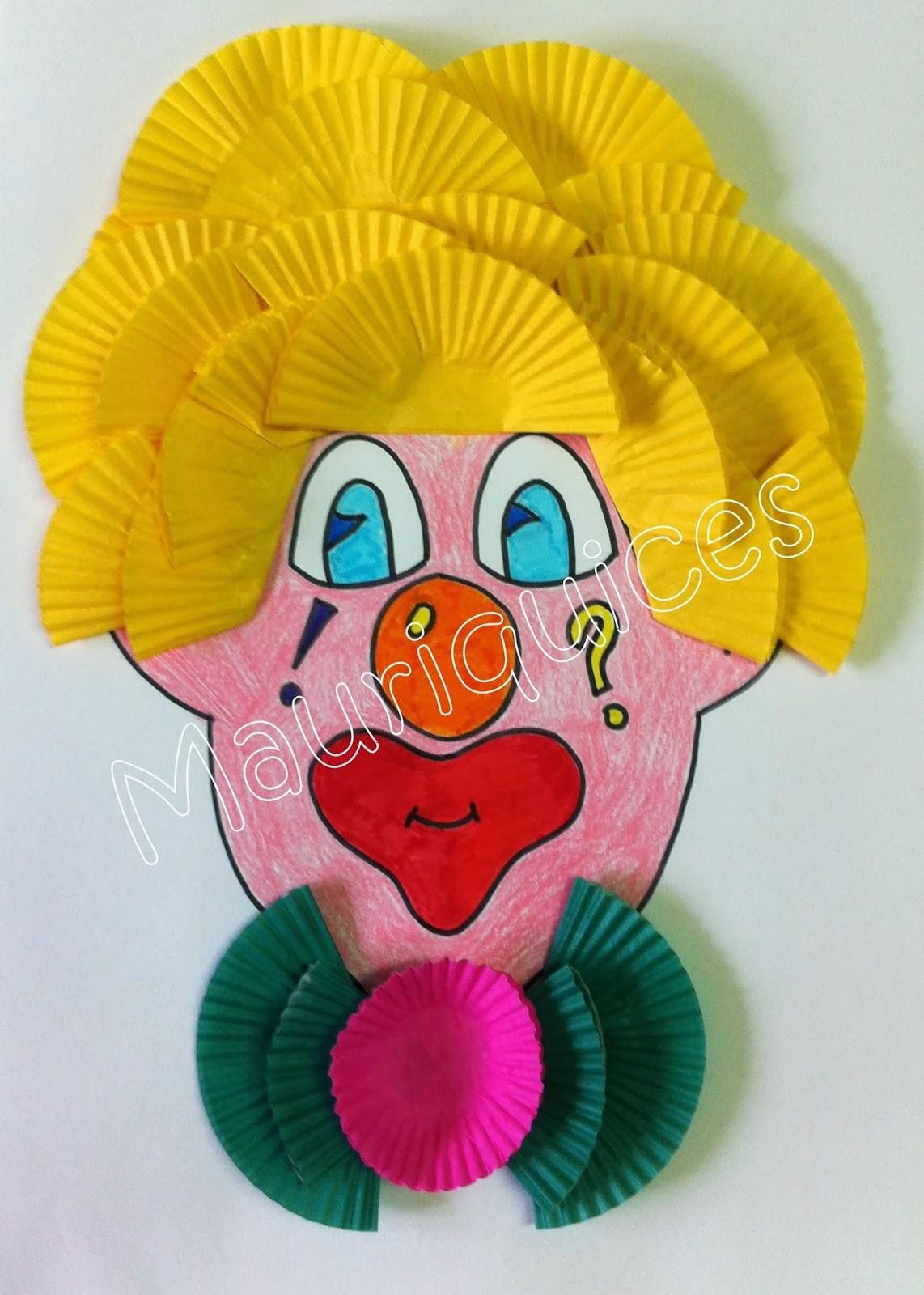 Как сделать клоуна из бумаги своими руками, мастер класс, схема 95