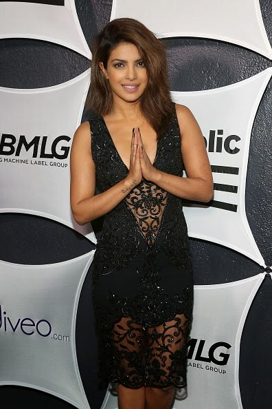 Priyanka Chopra posing Namaste at GRAMMY