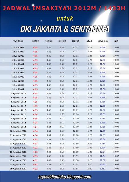 Jadwal Imsakiyah 2012