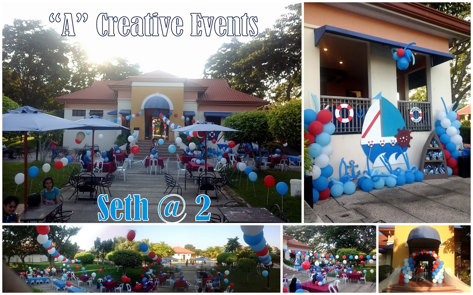 Seth S Nautical Themed Party Athena Miel S Balloons Bubbles And