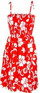 Red Smocked Tube Dress