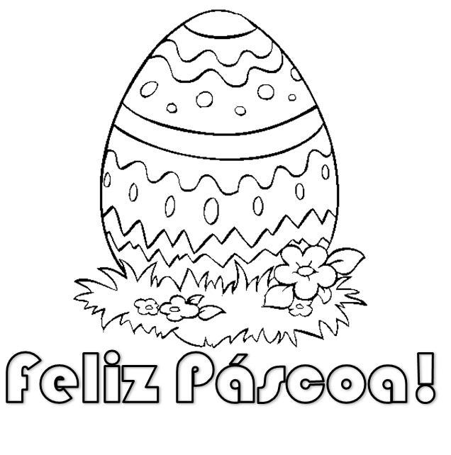 colorir desenhos Ovos feliz páscoa