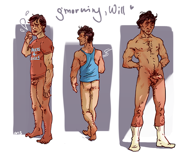 Agent Will Graham Hannibal NBC bottomless and nude