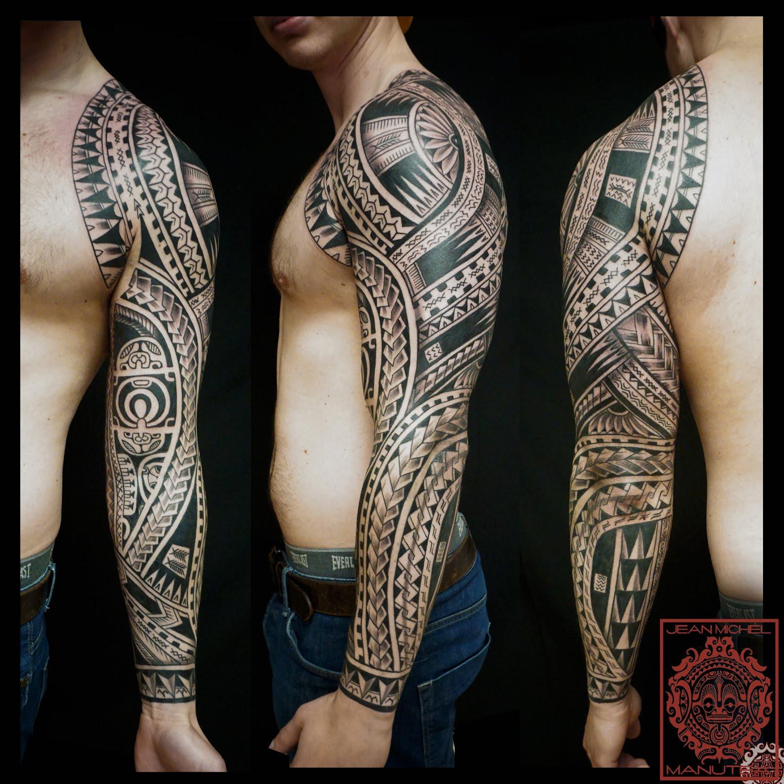 Tatouage polynesien polynesian tattoo may 2016 - Tatouage polynesien bras ...