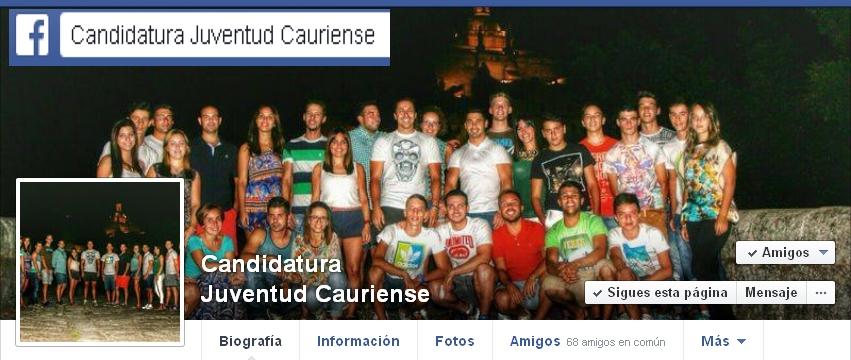 Juventud Cauriense 2015: Candidatura de Chumi y su Directiva.