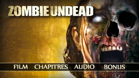 le menu DVD de Zombie Undead