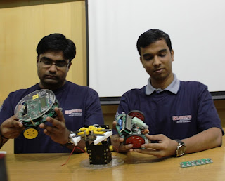 Winners of last year's e-Yanra 2012 now interning at the e-Yantra lab at IIT Bombay