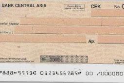Contoh Check/Cek Bank