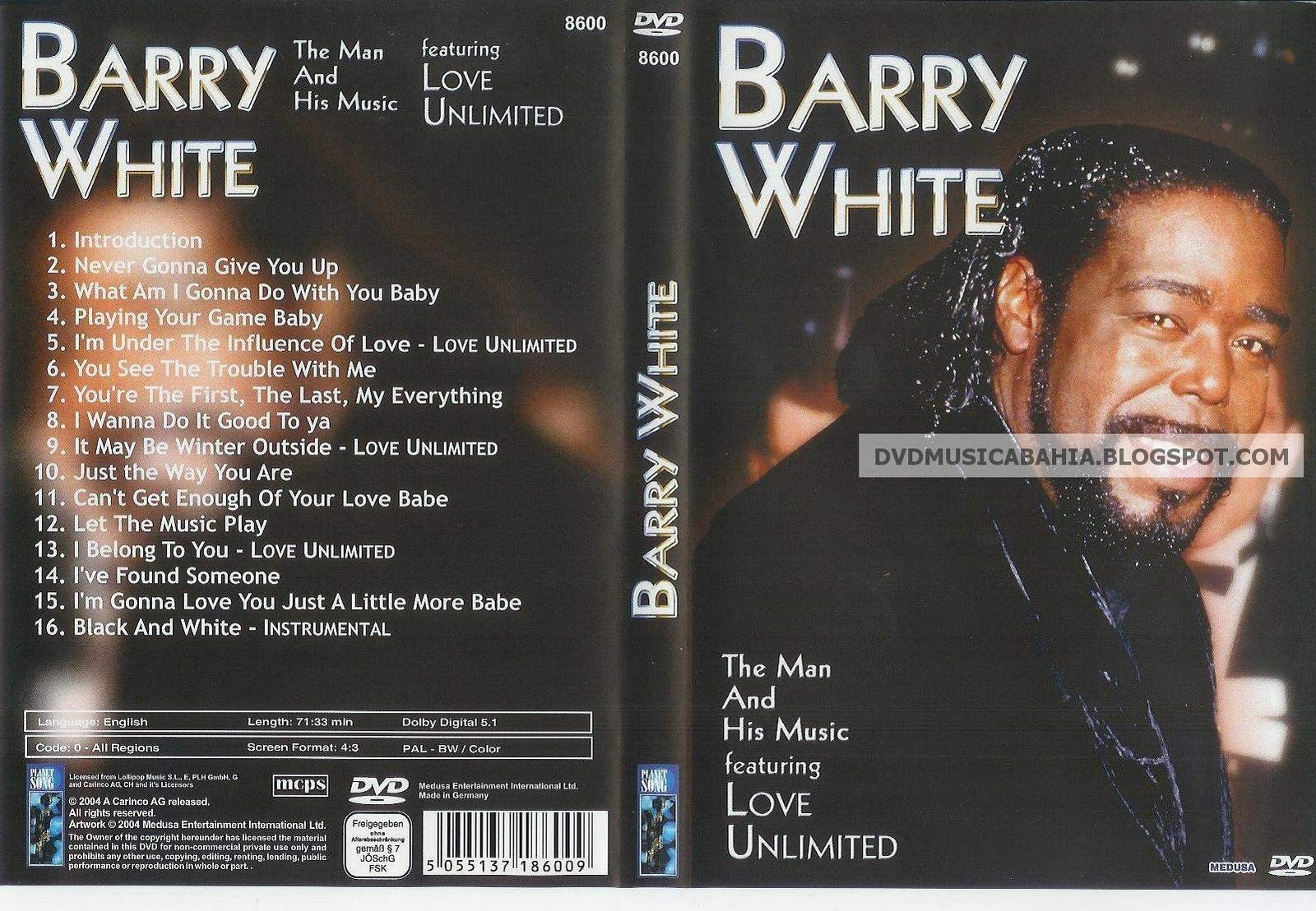 Cat logo dvd m sica barry white the man and his music for 1980 floor show dvd