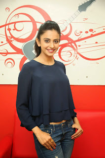 Actress Rakul Preet Singh Pictures in Jeans Gallery at Big FM  10