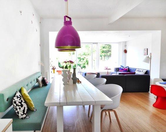 Decoracion de un salon a todo color decoraci n - Colores relajantes para salones ...