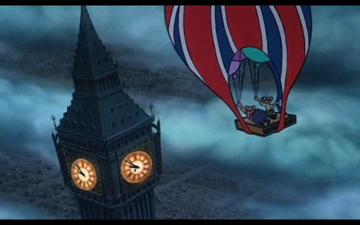 Balloon Big Ben The Great Mouse Detective 1986 Vincent Price animatedfilmreviews.filminspector.com