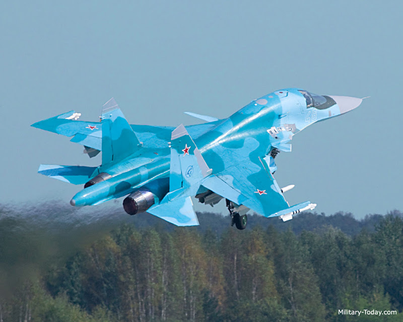 Sukhoi Su-34 Russian Fighter Bomber Aircraft