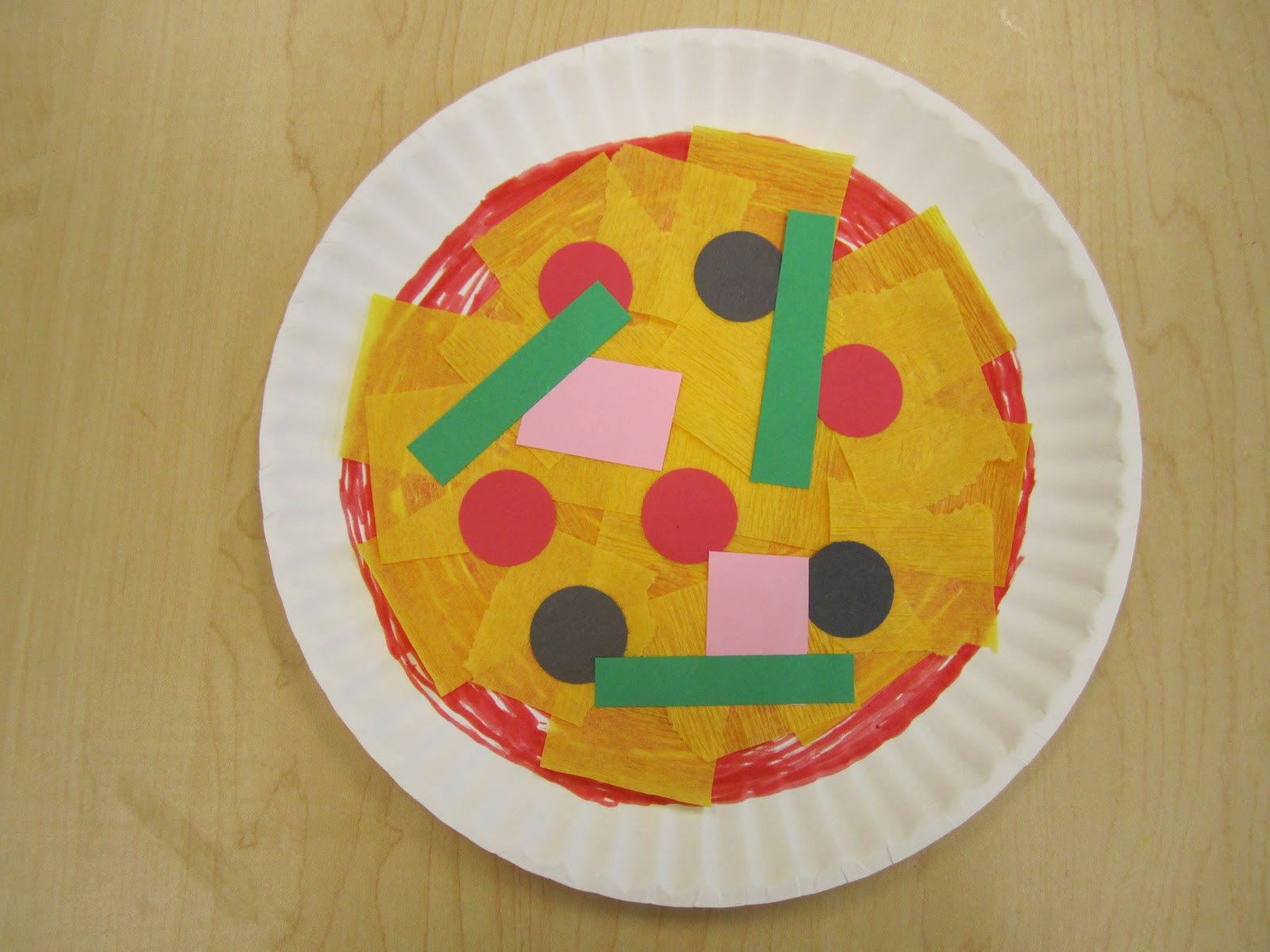 Kids39 Bibliotheque Pizza Storytime & Paper Plate Pizza Craft - Castrophotos