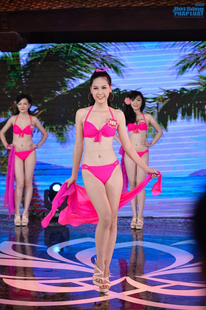 Ảnh gái xinh Hoa hậu miền bắc 2014 với bikini 7