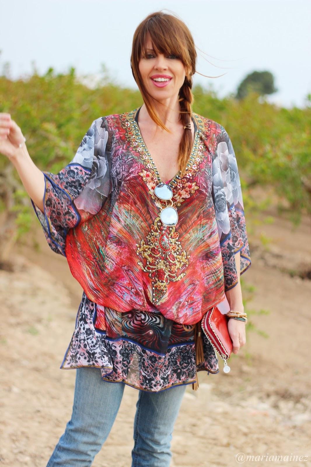 Look Boho 2015 - Hippyssidy - Spring Summer 2015 - Pantalón campana - Caftán hippie