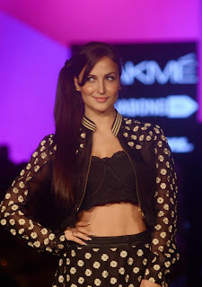 Actress Elli Avram Pictures at Lakme Fashion Week 2015 1.jpg