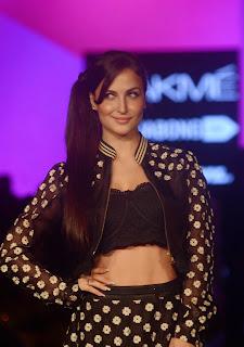 Actress Elli Avram Pictures at Lakme Fashion Week 2015 1.jpg