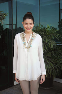 Anushka Sharma in lovely White Top at Success Party of NH10 Movie
