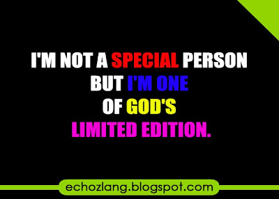 I'm not a special person, but i'm one of the Gods Limited edition.