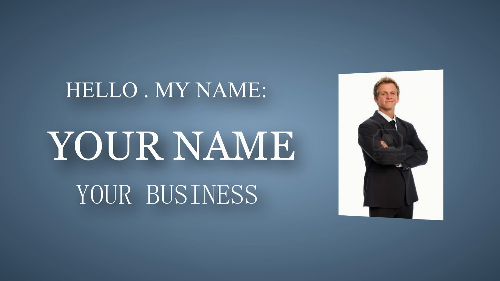 free template sony vegas business card ~ shock prod, Presentation templates