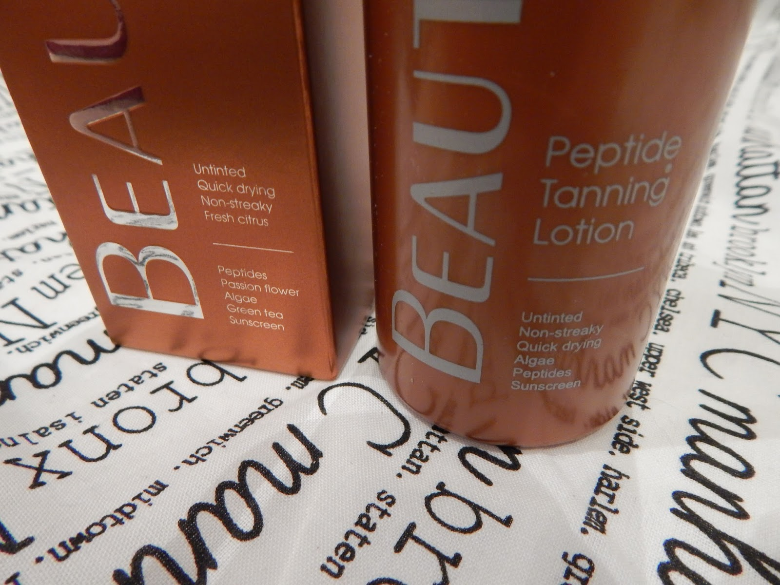 Beautylab Peptide Tanning Lotion