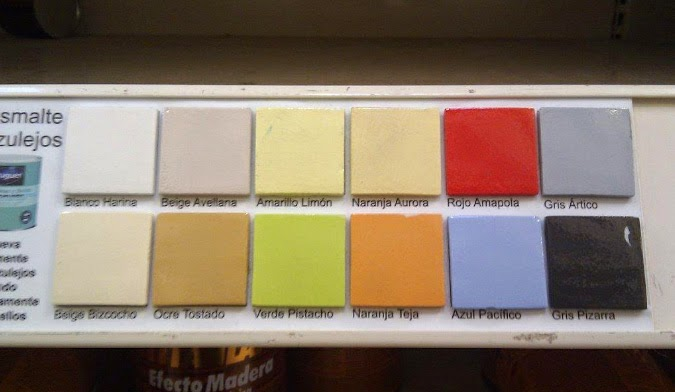 Arantxa amor decoraci n cambiar la imagen a un ba o - Pintura para azulejos de cocina ...