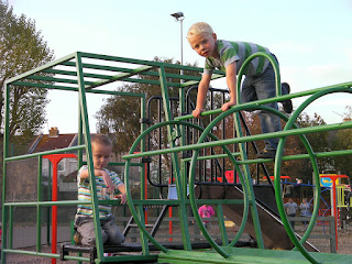 train climbing frame with monkeys