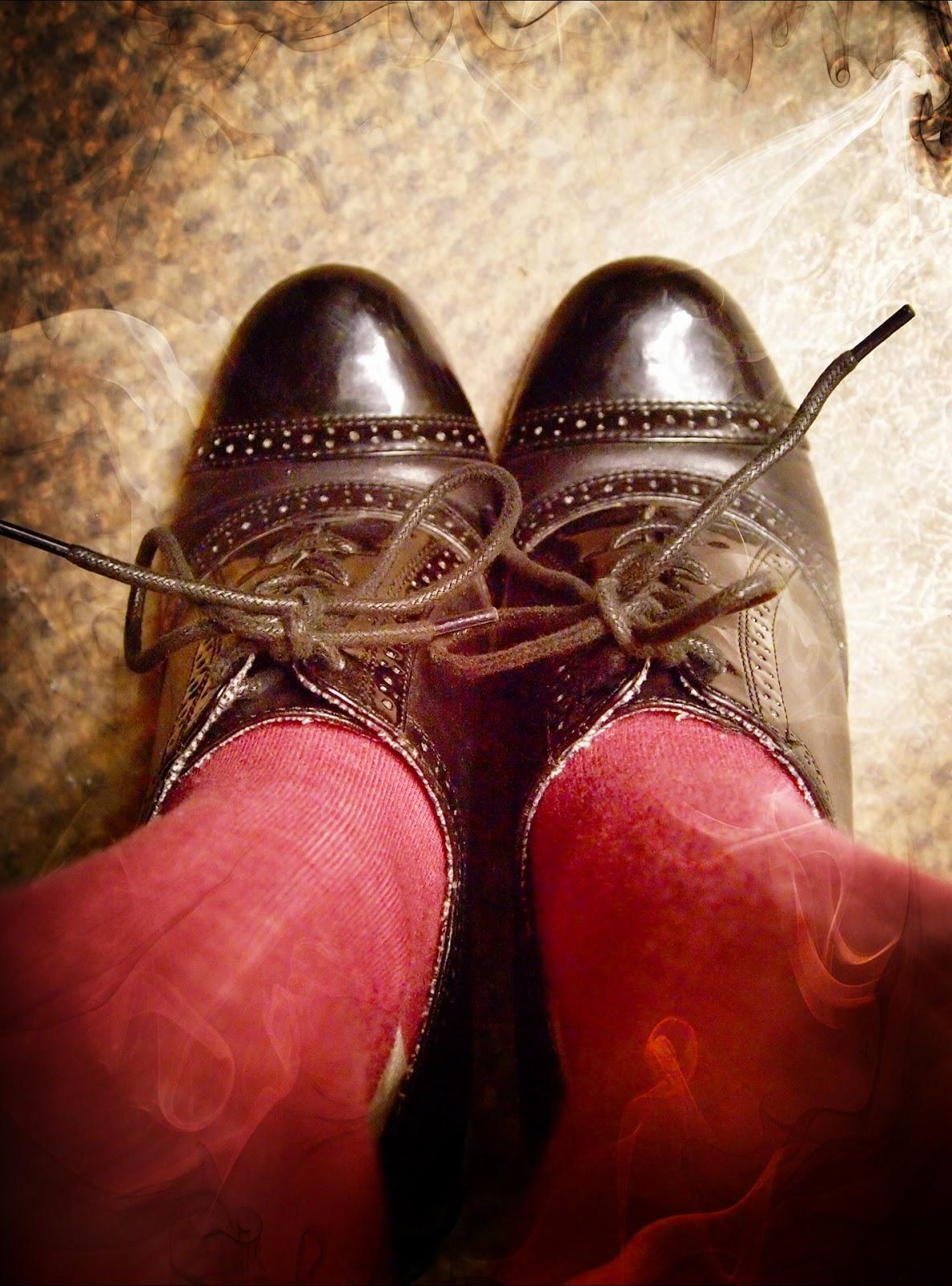 Black oxford booties