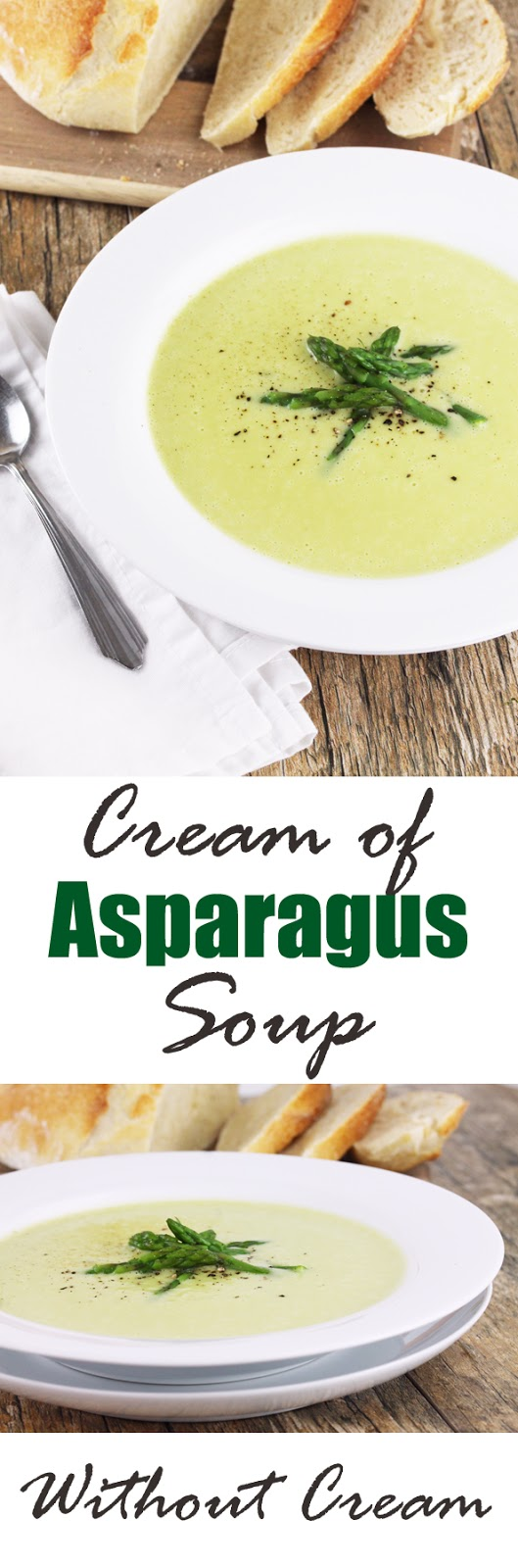 Cream of Asparagus Soup (Without Cream)