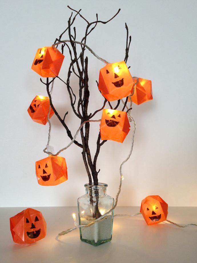schaeresteipapier origami k rbis lichterkette f r halloween. Black Bedroom Furniture Sets. Home Design Ideas