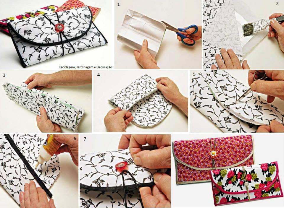Aprenda a fazer uma carteira com caixas de leite.