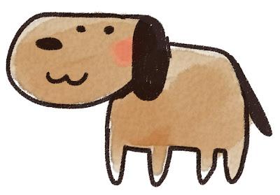 犬のイラスト(戌年・干支)