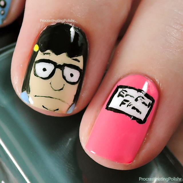 Tina Belcher (Bob's Burgers) Nail Art