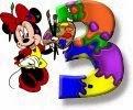 Alfabeto de Minnie Mouse pintando 3.