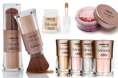 Linha de maquiagem mineral