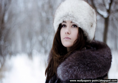 winter girl wallpaper free