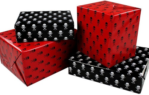 Gothic, Halloween and Horror-Inspired Wrapping Paper for Ghoulish Gifts