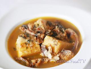 Yam and Dried Fish Pepper Soup Porridge, Gi Mmiri oku