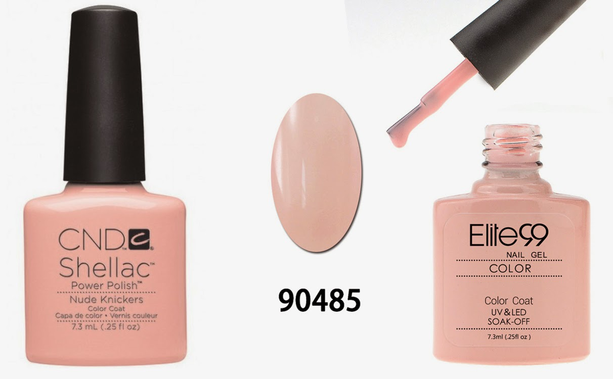 CND Nude Knickers compared to elite99 90485 vs