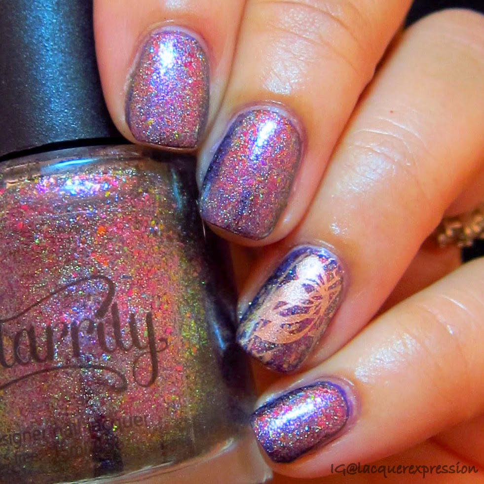 Swatch and review of Supernova Holo nail polish by Starrily