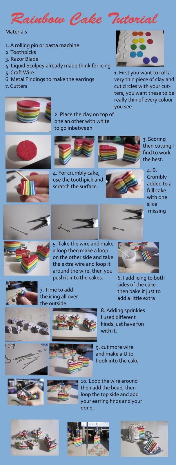 Clay Rainbow Cake Tutorial Rainbow+cake+tutorial
